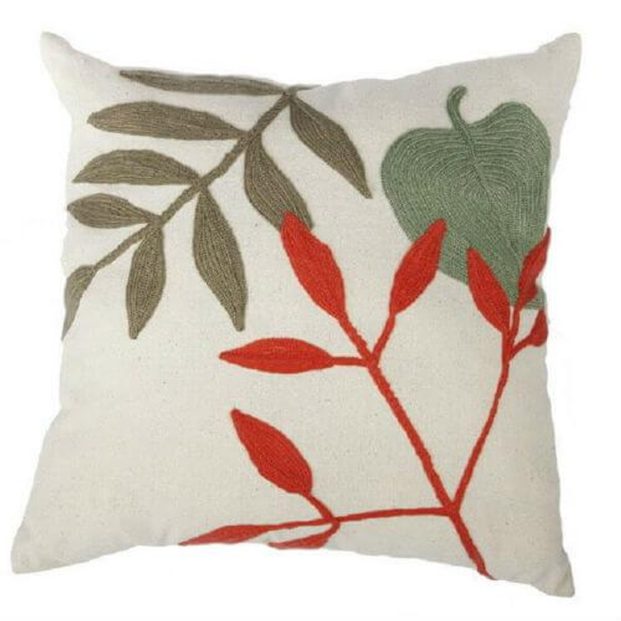 Multicolor 20 x 20-Inch Embroidered Pillow