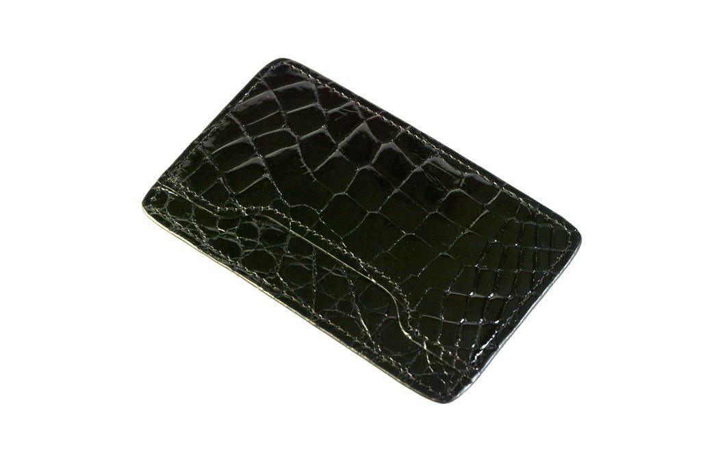 Notched Card Holder - Black