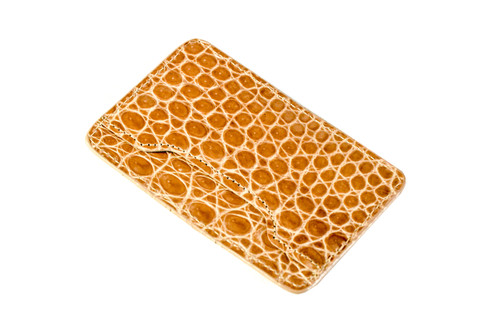 Notched Card Holder - Tan
