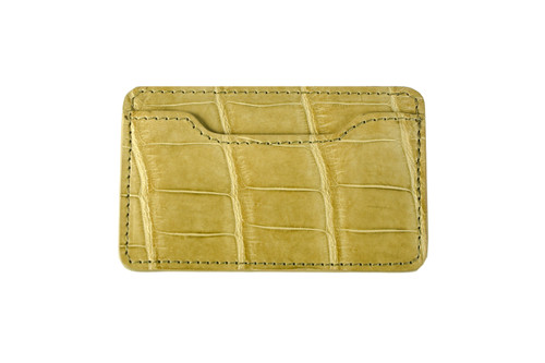 Half Notched Card Holder - Pear