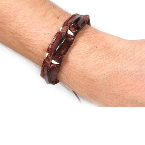 Crocodile Wristbands Teeth (Tie Up)