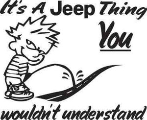 It's A Jeep Thing Decal 1