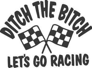 Let's Go Racing Decal