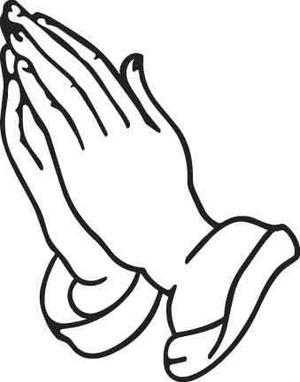 Praying Hands Decal