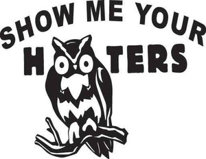 Show Me Your Hooters Decal