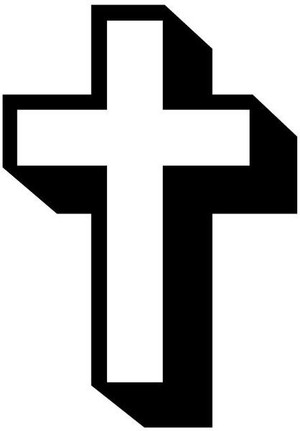 3D Cross Decal