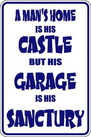 A Man's Home Is His Castle Sublimated Aluminum Magnet