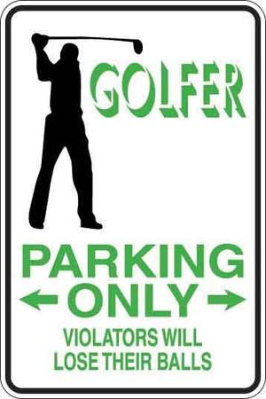 Golfer Sign Decal 1