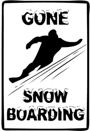 Gone Snowboarding Printed Decal