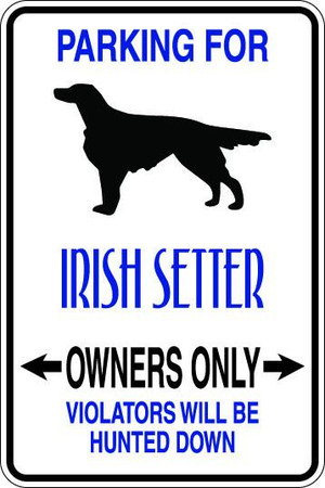 Irish Setter Owners Only Sublimated Aluminum Magnet