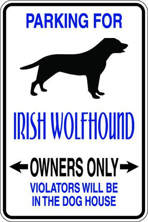 Irish Wolfhound Owners Only Sublimated Aluminum Magnet