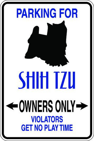 Shih Tzu Owners Only Sublimated Aluminum Magnet