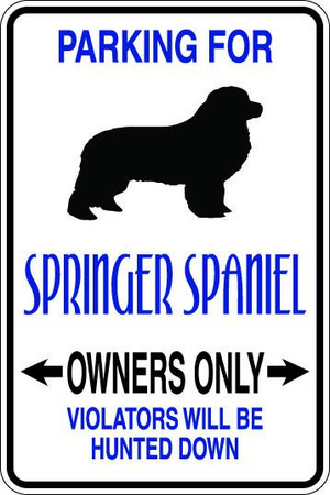 Springer Spaniel Owners Only Sublimated Aluminum Magnet