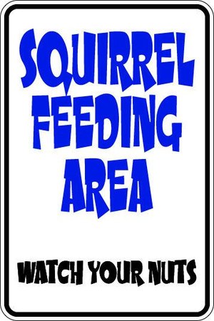 Squirrel Feeding Area Sublimated Aluminum Magnet