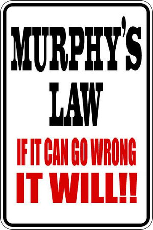 Murphy's Law Sublimated Aluminum Magnet