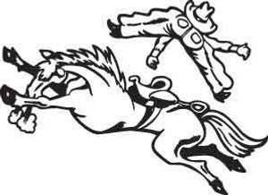 Bucking Horse Decal 1