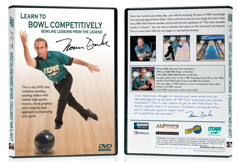 DVD Norm Duke Learn to Bowl Competitively Instructional DVD