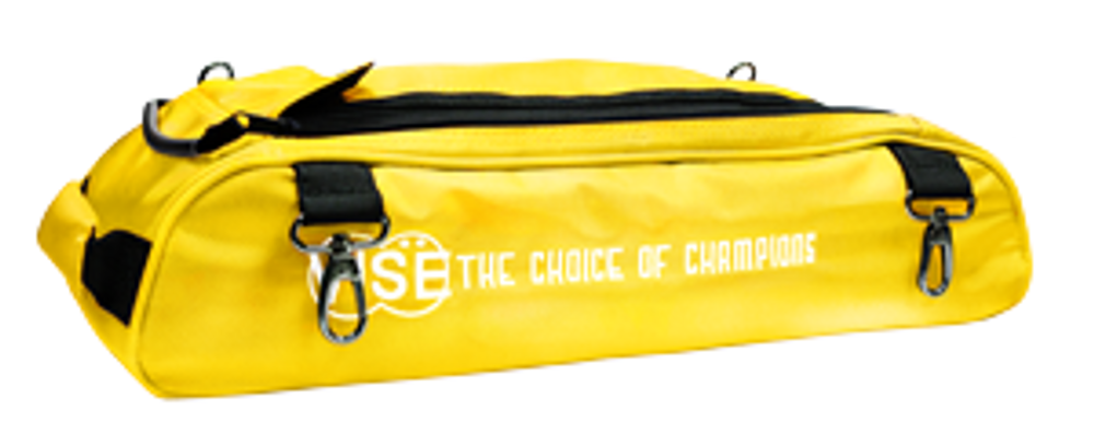 Vise 3 Ball Clear Top Roller Shoe Bag Yellow