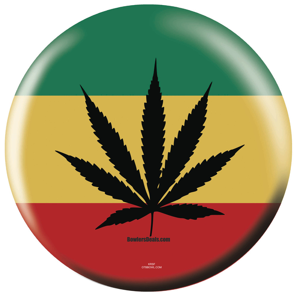 Rastafarian 2: Rasta Weed Bowling Ball Exclusive By OTB FREE Shipping No