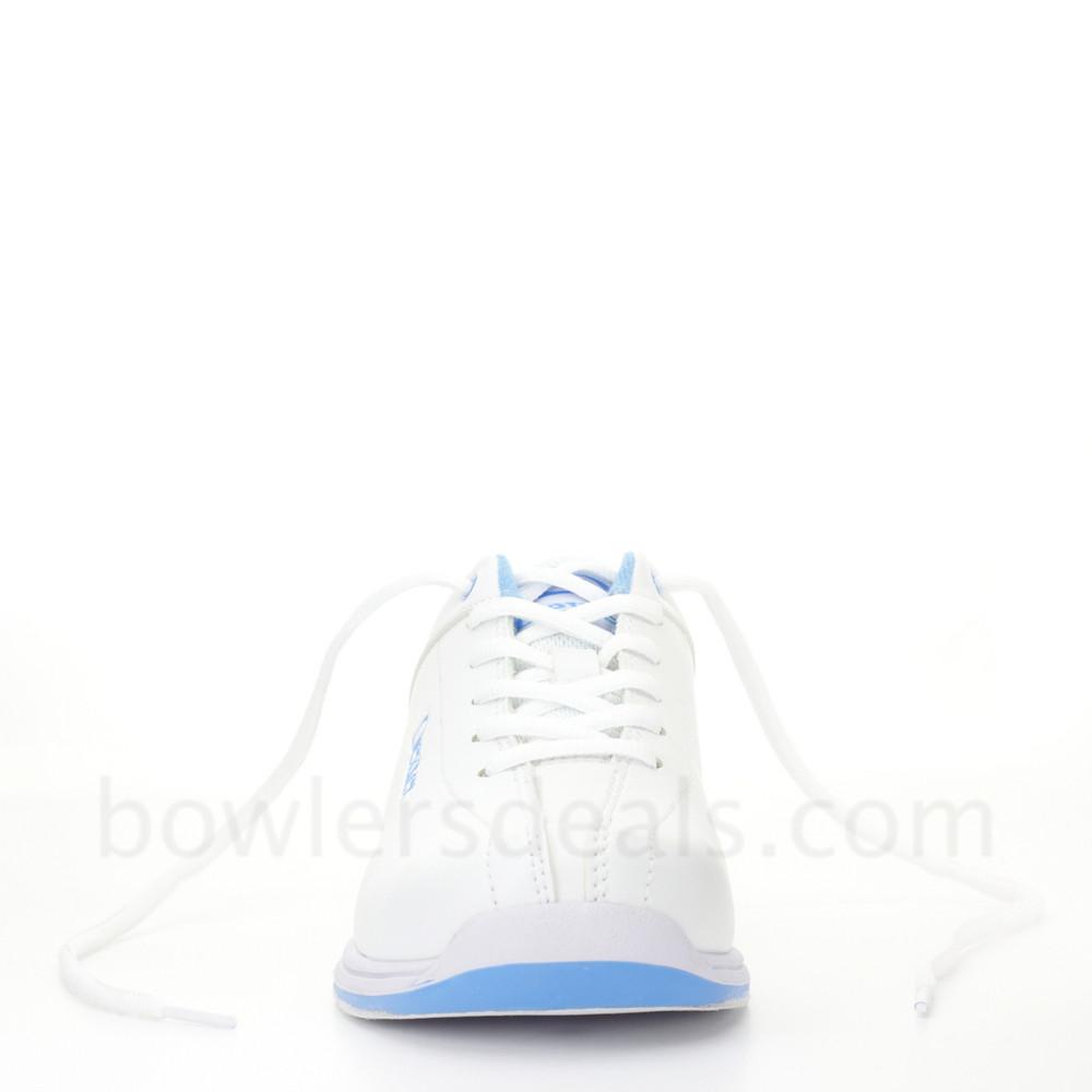 Dexter Raquel IV Jr Bowling Shoes White Blue Girls head on