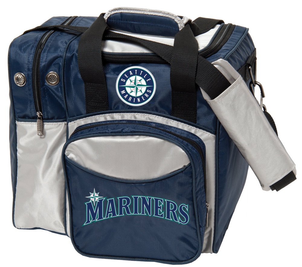 MLB 1 Ball Single Tote Bowling Bag Seattle Mariners