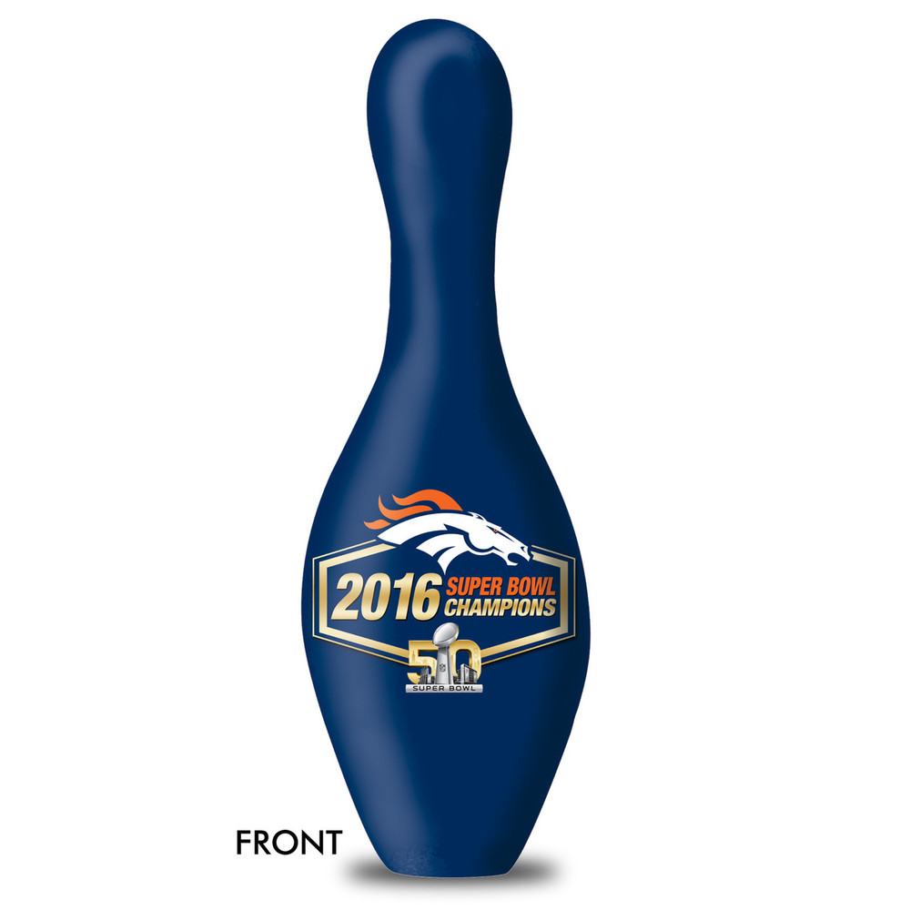 OTB NFL Bowling Pin 2016 Super Bowl 50 Champion Broncos