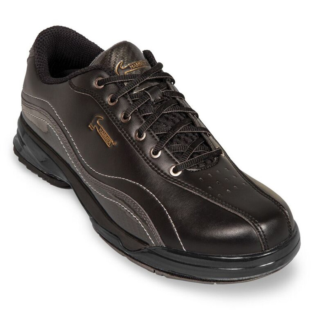 Hammer Force Mens Performance Bowling Shoes Black Carbon Right Hand