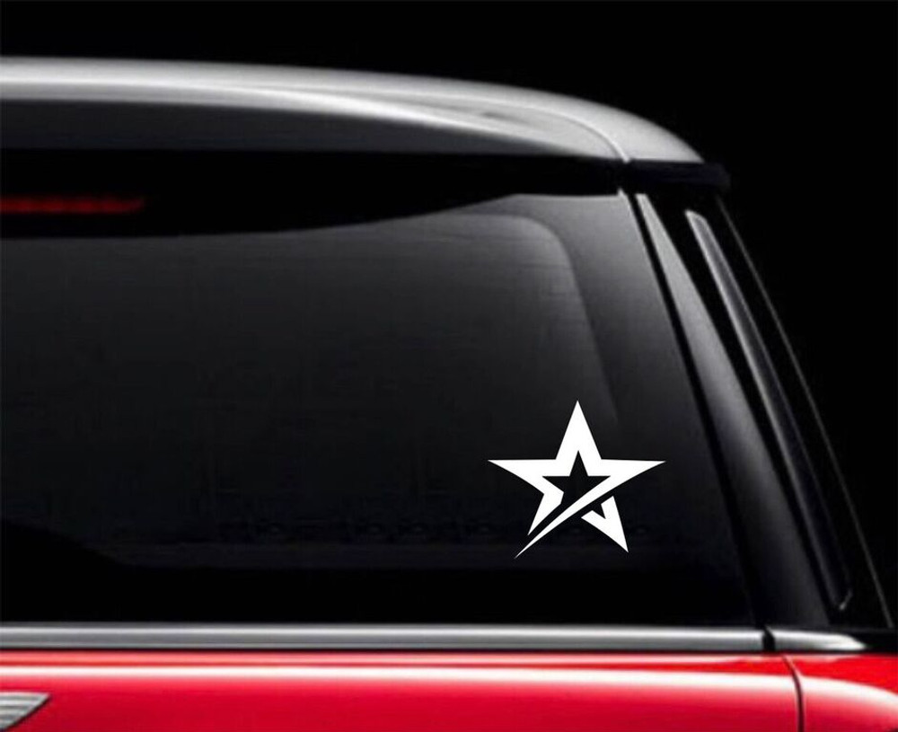 Roto Grip Star Car Decal White