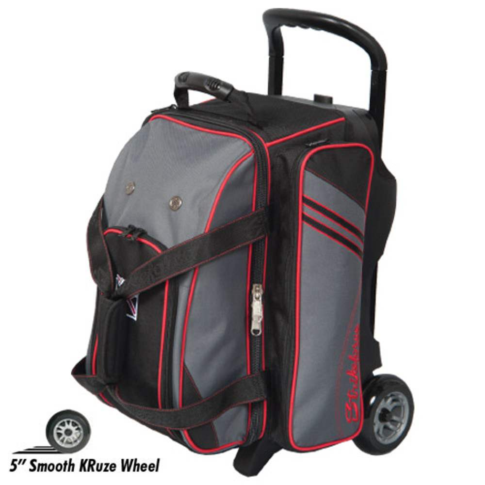 KR Lane Rover 2 Ball Roller Bowling Bag Black Grey Red