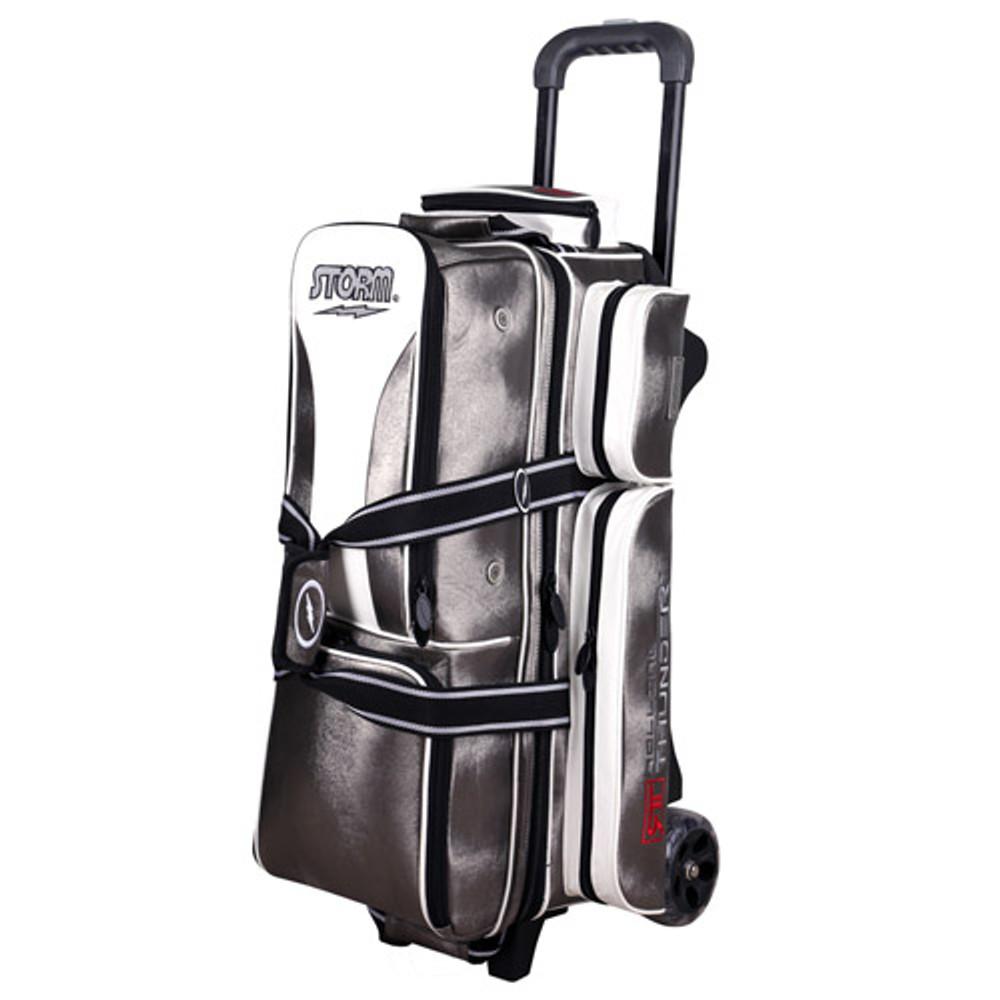 Storm Rolling Thunder 3-Ball Roller Bowling Bag Platinum Signature