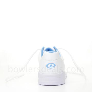 Dexter Raquel IV Jr Bowling Shoes White Blue Girls rear view