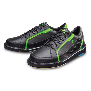 Brunswick Punisher Mens Bowling Shoes Black Neon Green Right Hand Wide