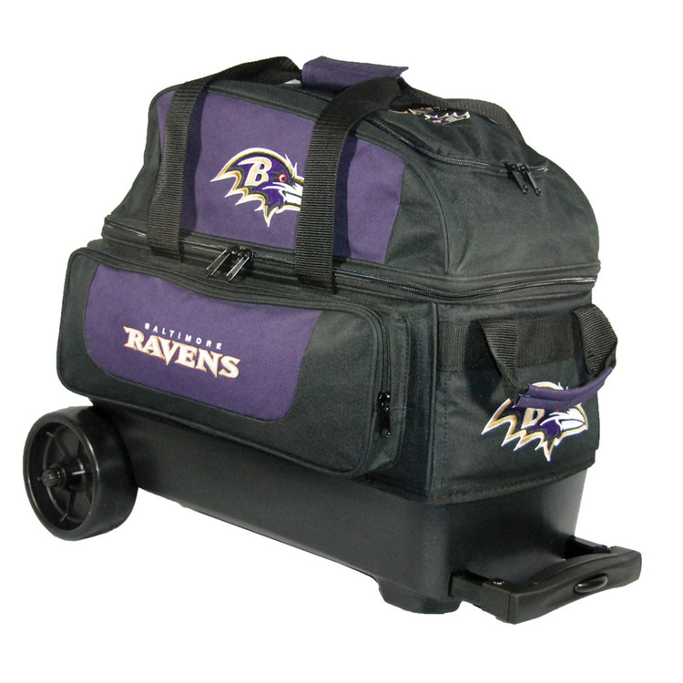 KR NFL 2 Ball Double Rolling Bowling Bag Baltimore Ravens