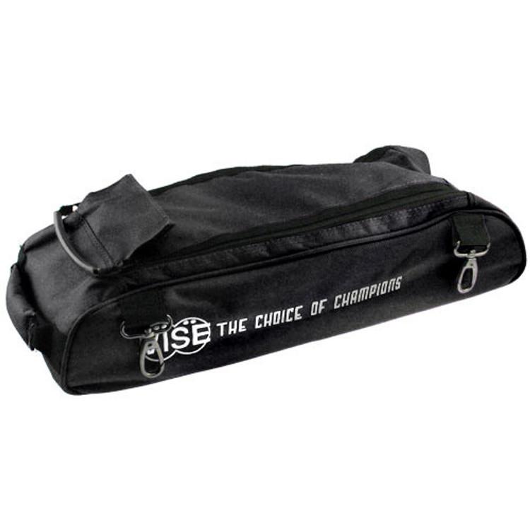 Vise 3 Ball Clear Top Roller Shoe Bag Black