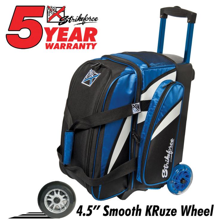 KR Cruiser Smooth 2 Ball Double Roller Bowling Bag Royal