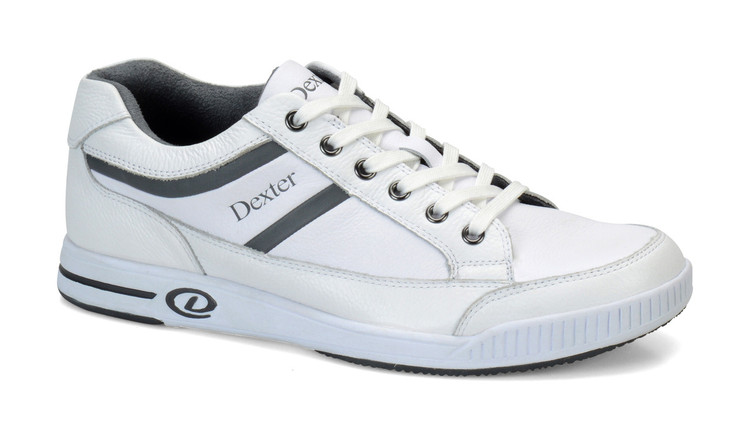 Dexter Keegan Casual Comfort Mens Bowling Shoes White Grey Right Hand side view