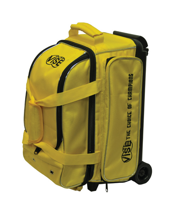 Vise 2 Ball Economy Roller Bowling Bag Yellow