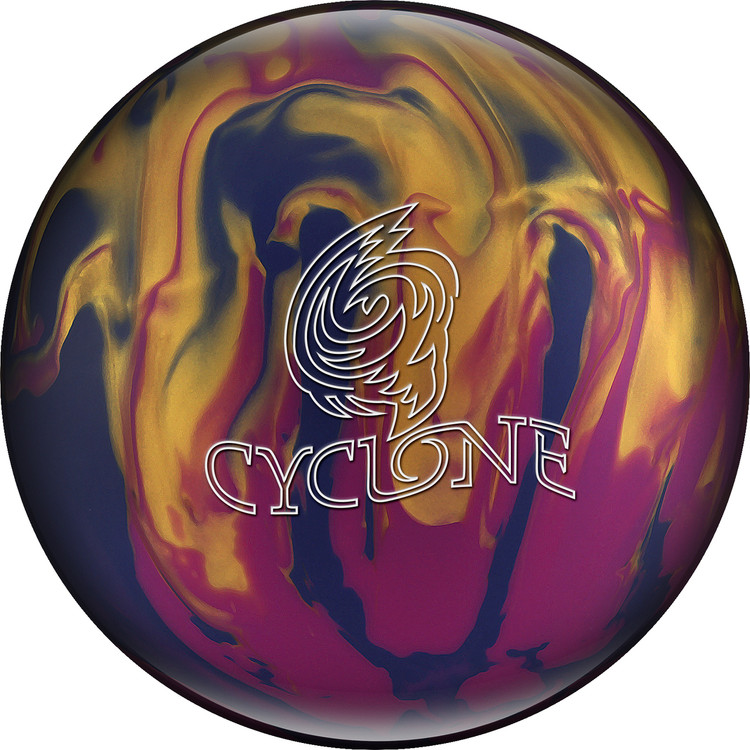 Ebonite Cyclone Bowling Ball Violet Gold Blue