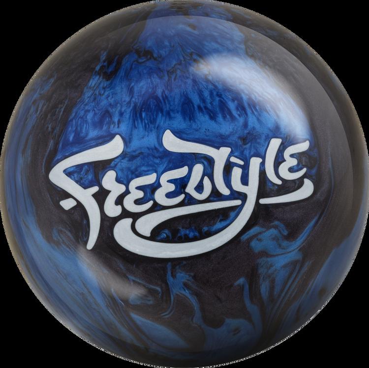 Motiv Freestyle Bowling Ball Black Blue