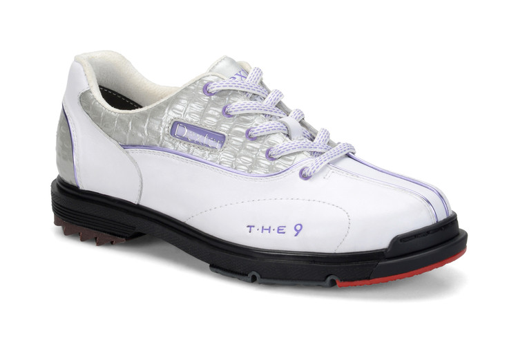 Dexter T.H.E. 9 Womens Bowling Shoes White Silver Croc
