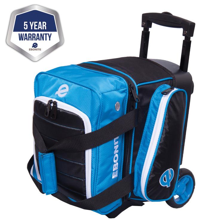 Ebonite Eclipse Single Roller Bowling Bag Blue