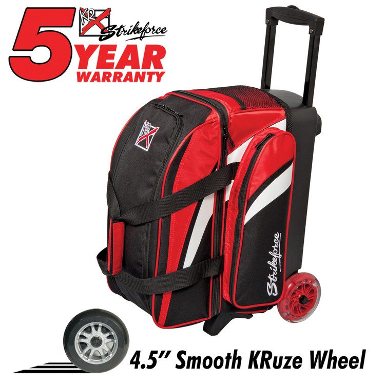Cruiser Smooth 2 Ball Double Roller Bowling Bag Red