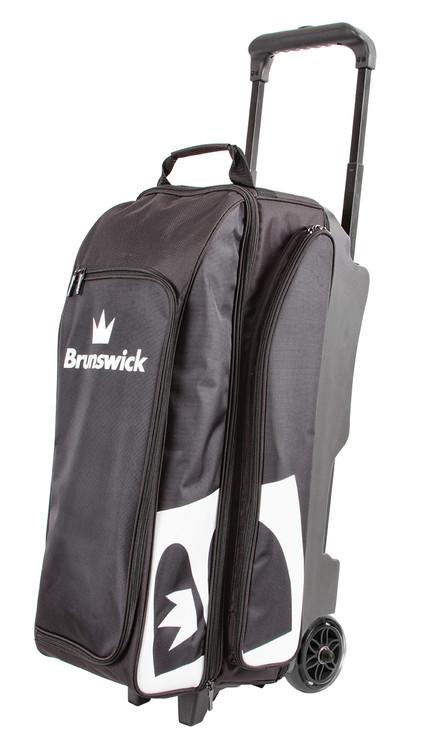 Brunswick Blitz 3 Ball Triple Roller Bowling Bag Black
