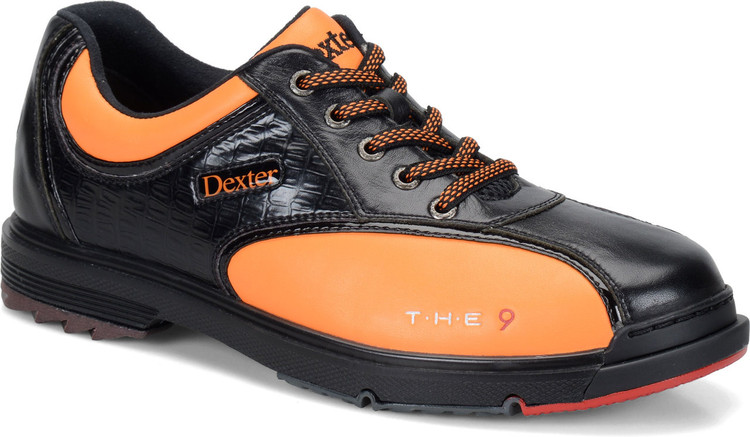 Dexter THE 9 Mens Bowling Shoes Black Orange