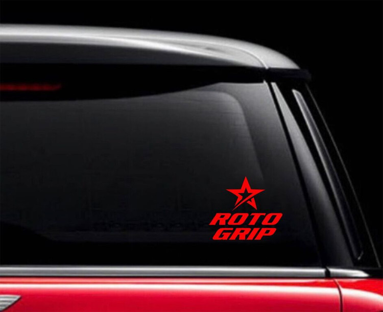 Roto Grip Classic Car Decal Red