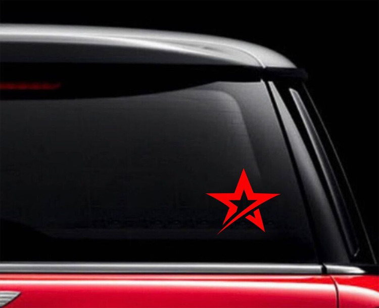 Roto Grip Star Car Decal Red