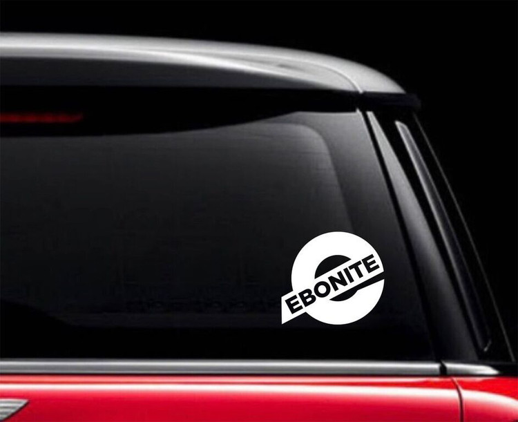 Ebonite E Car Decal White