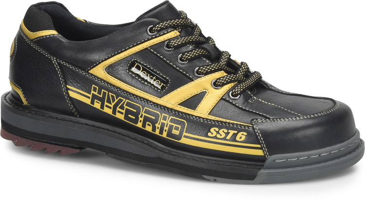 Dexter SST 6 Hybrid Mens Bowling Shoes Right Hand Black Gold Wide