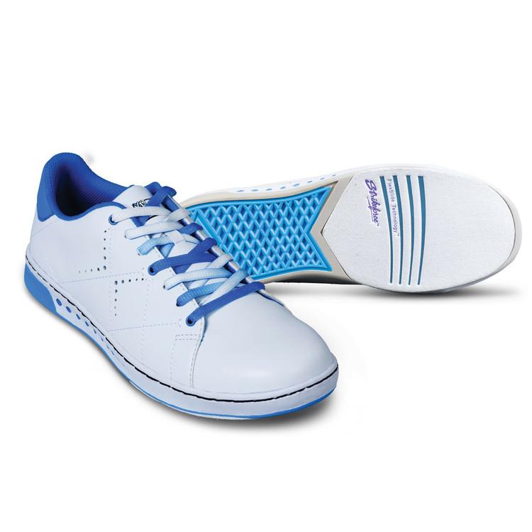 KR Strikeforce Gem Women's Bowling Shoes White Blue Wide