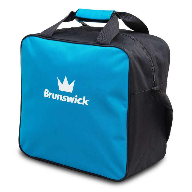 Brunswick TZone 1 Ball Single Tote Bowling Bag Blue Wave